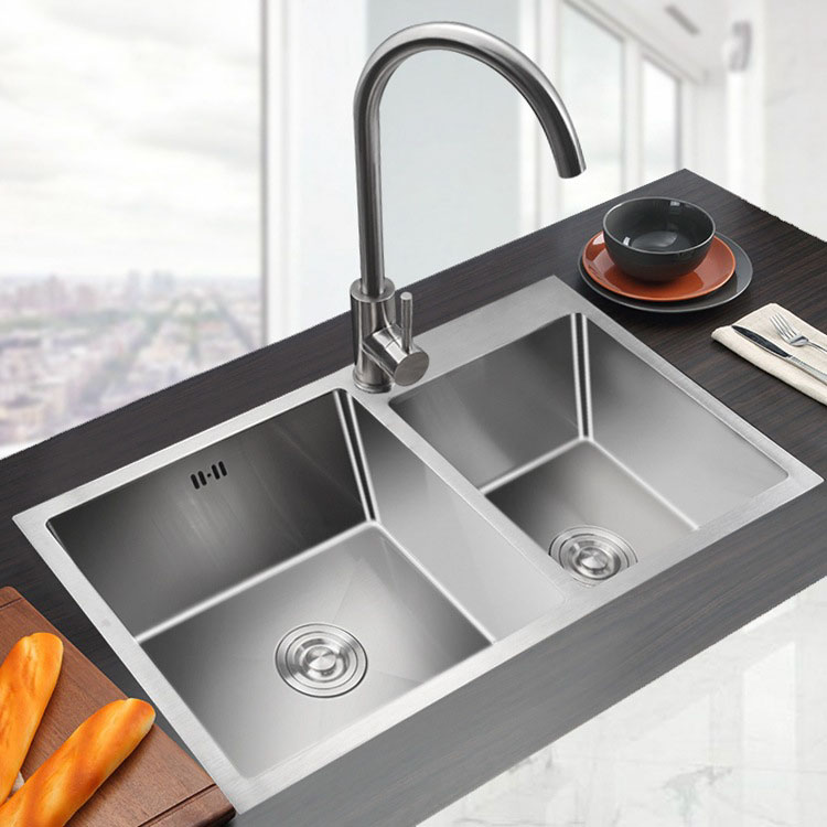 Custom Size Multifunction Topmount Handmade Double Bowl 304 Stainless Steel  Kitchen Sink For Home - Buy Kitchen Sink,Stainless Steel Sink,304 ...