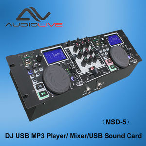 China factory Professional DJ USB MP3 Mixer Player MSD-5 portable cd/usb input mp3 player