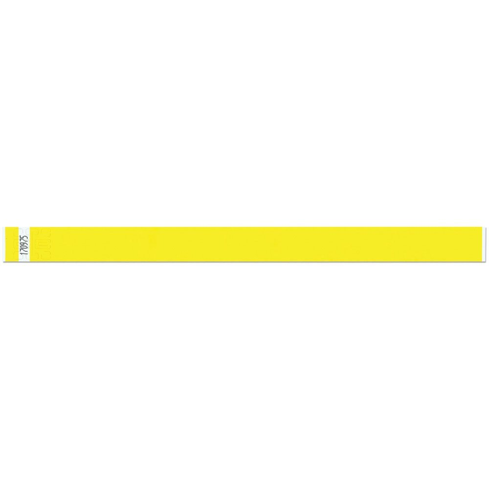 3/4 Inch Tyvek Tytan-Band® Wristbands - Economical Comfortable Tear Resistant - Yellow - 500 Pieces Per Box