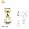 Custom design quality metal d ring swivel snap hook for bags