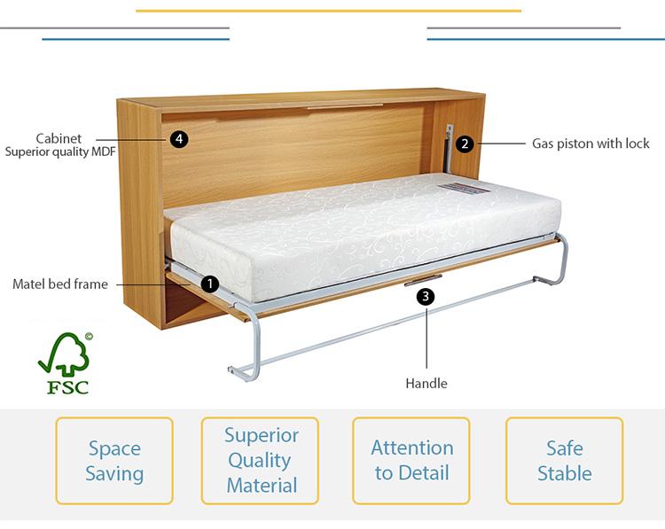 Full Size Vertical Wall Mount Easy Diy Murphy Bed Hardware Kit Buy