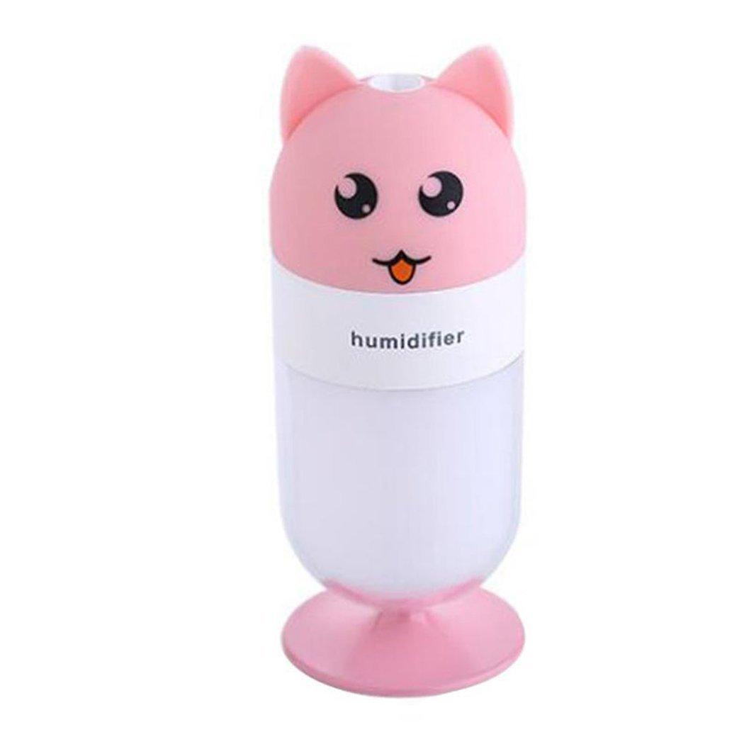 Inkach Cool Mist Humidifier, Cute Fox Shaped LED Lamp Humidifier Air Diffuser Purifier Atomizer