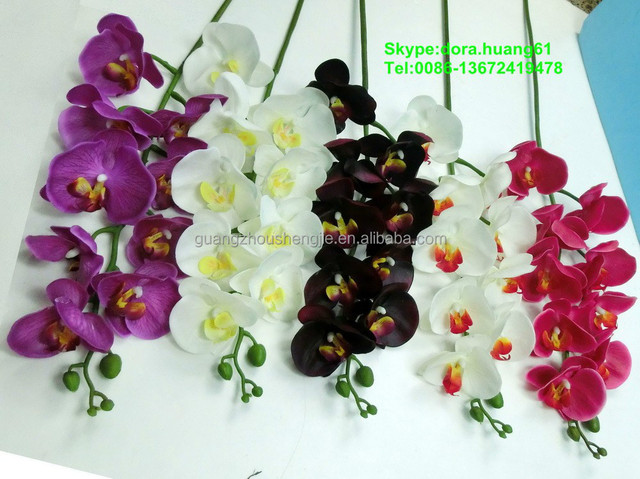 Sjh121602 Artificial Flowers Black Orchid Fresh Flowers Silk