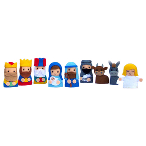 Factory price High Quality mini plush felt finger puppets and story for kids