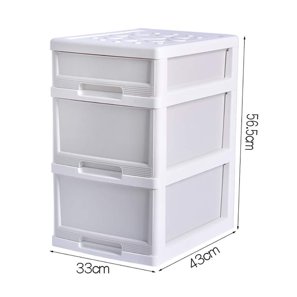 WJ Drawers Drawer Storage Trolley, Monochrome Mobile Storage Trolley Home,Office & Salon (Color : White)