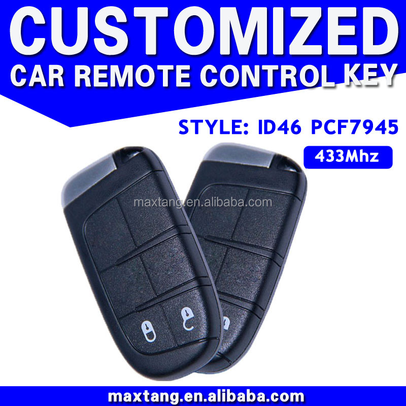 Auto 2 Button Smart Card Key System 433MHz ID46 PCF7945 For Fiat Wholesale Car Key MTF-102642
