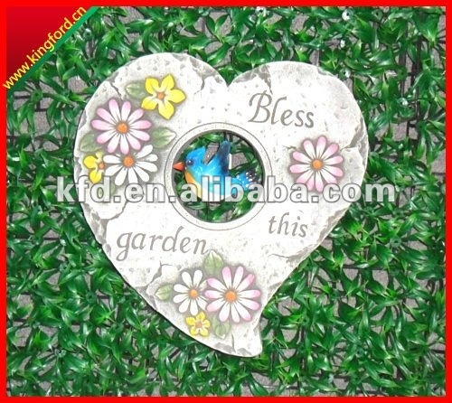 heart shape slate garden stepping stone for garden decor. - buy