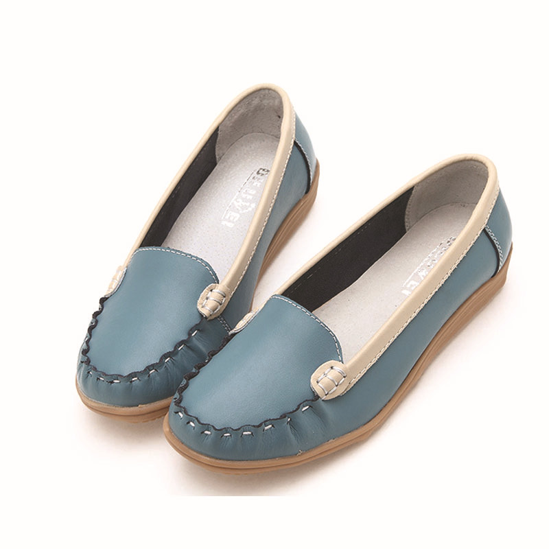 2015 spring autumn flat shoes women new fashion flats women genuine leather casual shoes designer Fisherman's shoes