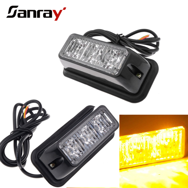 120W led flashing strobe lights 12v remote control amber led light bar, amber&white led car headlight