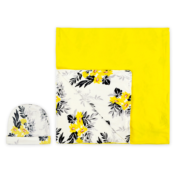 wholesale girls yellow ruffled top sunflower print and black strip leggings scarf set cute baby outfits girls 3 piece suits
