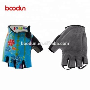 Boodun cycling gloves children Half Finger Kids bike gloves Junior Sports gloves