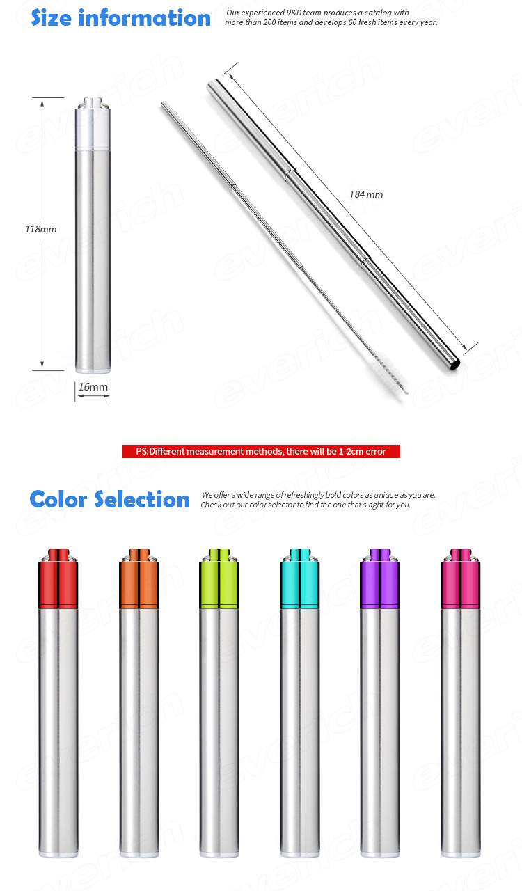 Amazon Hot Sale Collapsible Foldable Drinking Stainless Steel Metal Water  Reusable Straw / Reusable Custom Foldable Straw Set - Buy Collapsible
