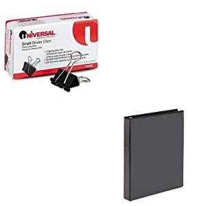 KITAVE19600UNV10200 - Value Kit - Avery Economy Showcase View Binder with Round Rings (AVE19600) and Universal Small Binder Clips (UNV10200)