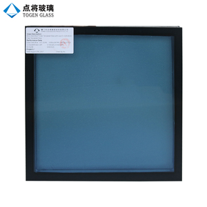 Dark Blue Tinted Low-E Insulated Tempered Glass Curtain Wall