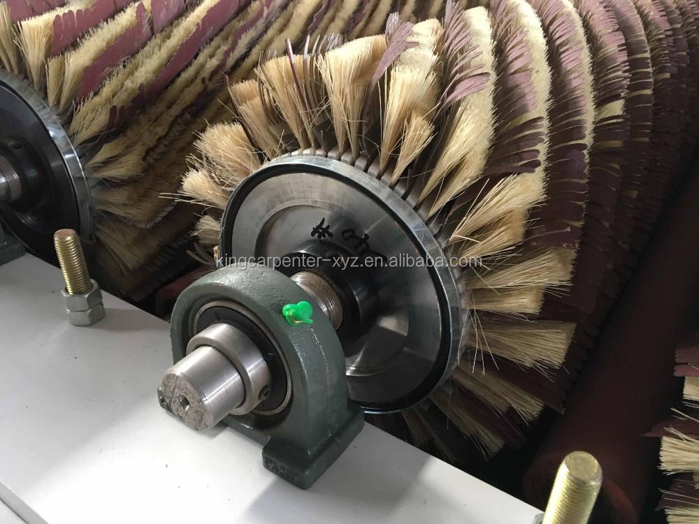 Massief houten vloer polijsten roller hout staalborstel machine