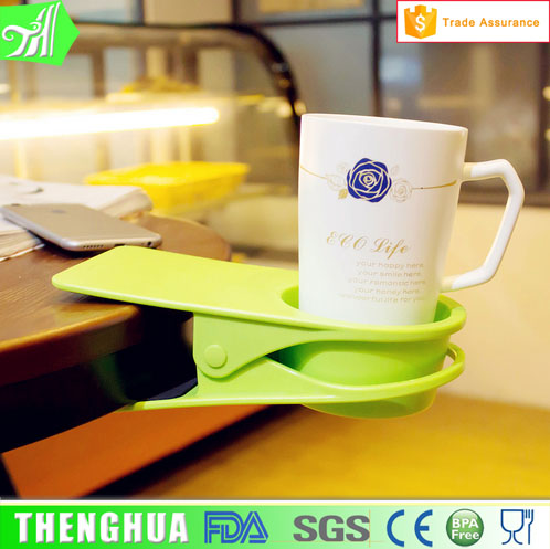 Colourful Wholesale Plastic Coffee Drinking Cup Holder Clip