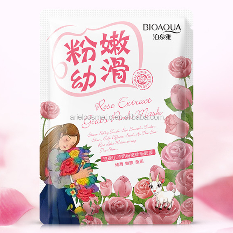 Rose extract Anti wrinkle anti aging skin care hyaluronic acid face mask