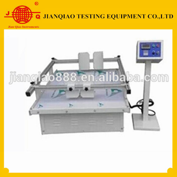 Transport vibration simulating test machine for packaging solution