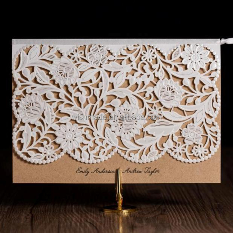 Classic Style latest wedding invitation card design