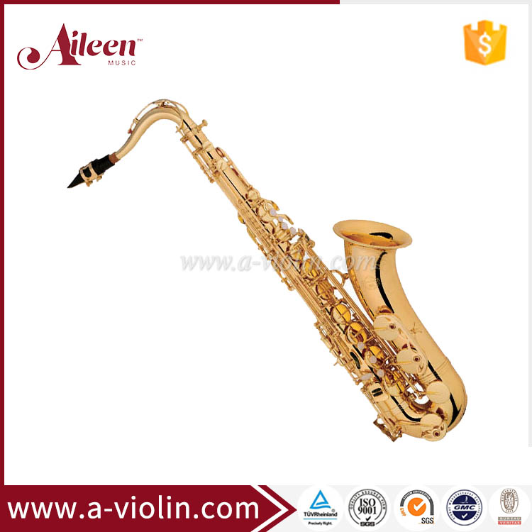 Musical brass instrument Yellow Body EB Key Groothandel Chinese Saxophone (SP0031G)