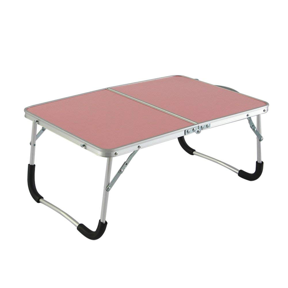 Adjustable laptop table notebook stand portable standing bed desk foldable sofa breakfast tray aluminum folding bed simple modern mobile portable dormitory student-C