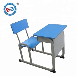School desk with chair attached comfortable cheap set single student school furniture