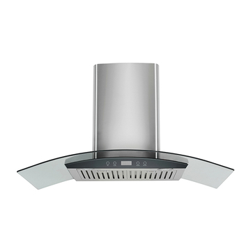 "OEM 36"" Stainless Steel Made Island Mount Powerful LED Display Touch Screen Control Cooking Fan Kitchen Range Hood SRT90G02"