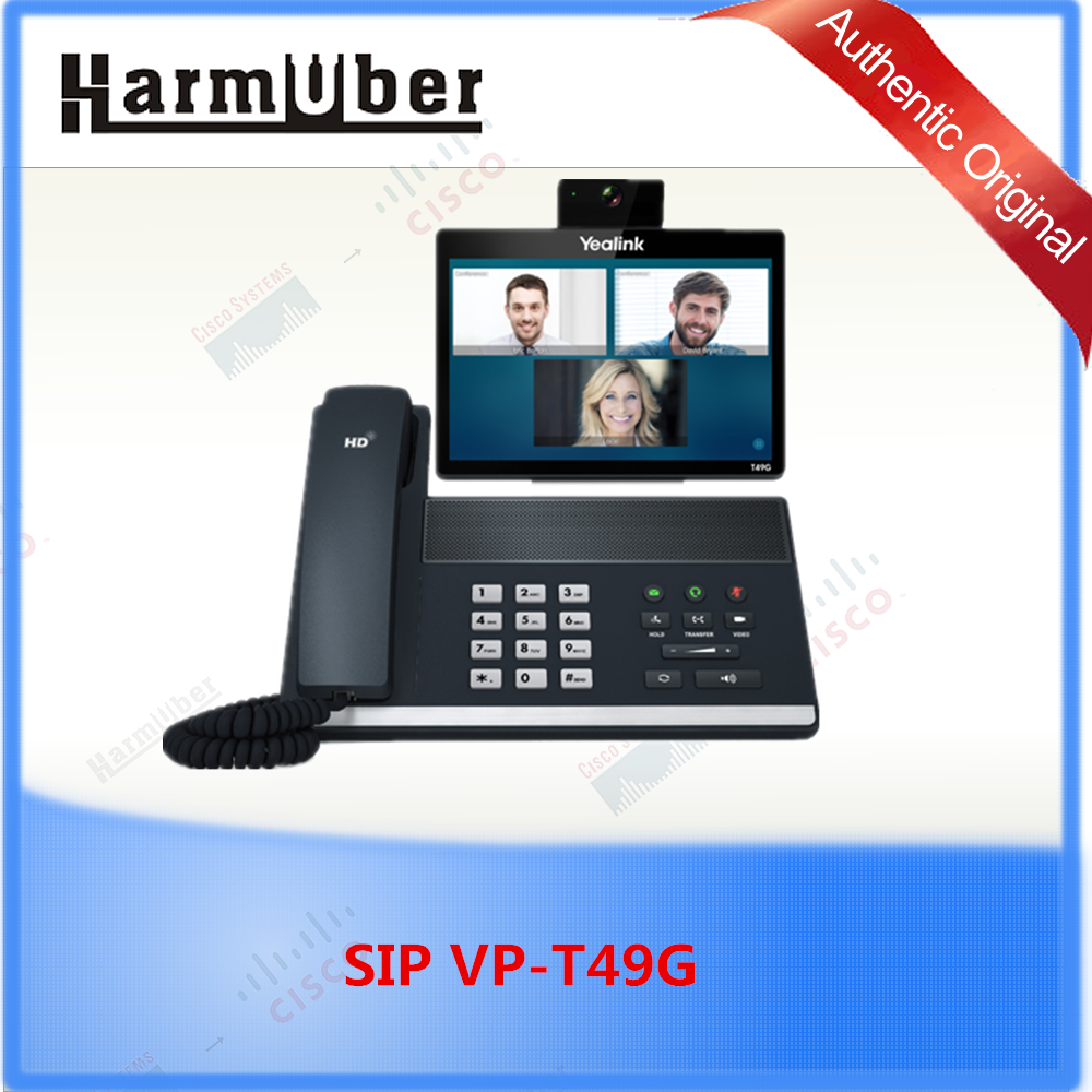 SIP VP-T49G, Yealink 8-Inch touch screen IPS LCD VoIP SIP Video Phone