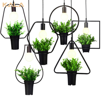 Indoor Hanging Edison Transparent Glass Bulb Plant Pendant Lamp Ceiling Light 2017 Modern