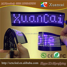 save 20% blue color flexible soft USB or Bluetooth scrolling message programmable for advertising