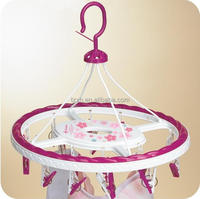 wholesale round plastic clothespin clothes coat hanger