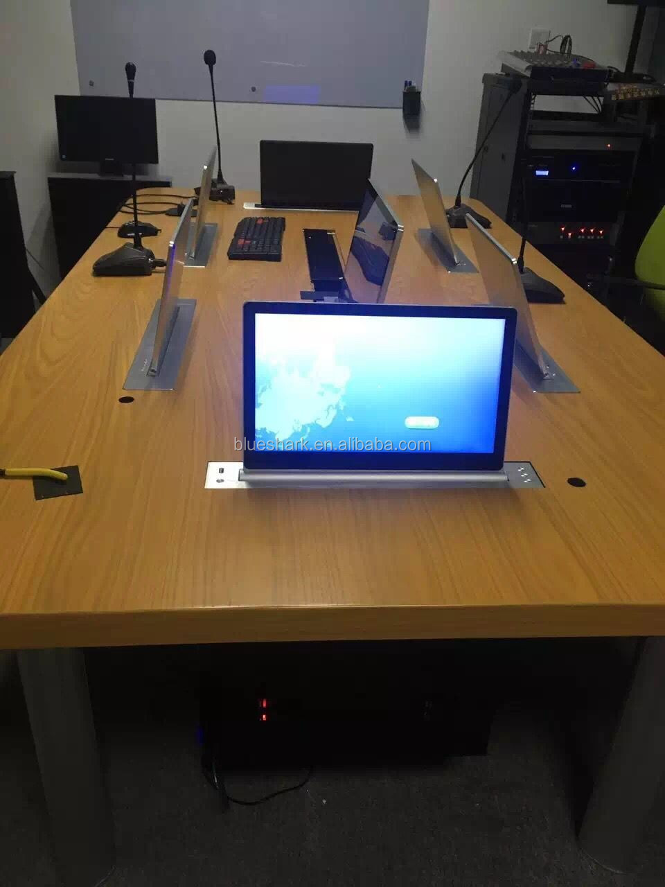 Electric LCD Monitor Lift system Mechanism For conference system
