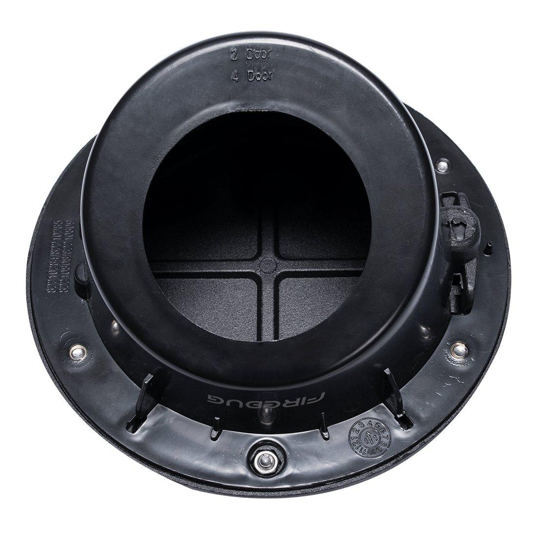 Black Powder Coated Steel Gas Fuel Tank Gas Cap Cover 07-17 Jeep Wrangler JK