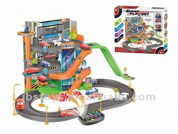 Hot sell plastic car parking garage toy