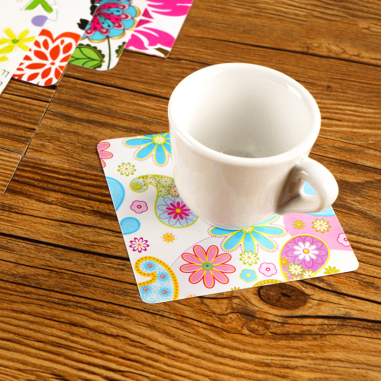 Office Supplies Family Table Decoration PVC Clear coaster Custom Plastic Placemat