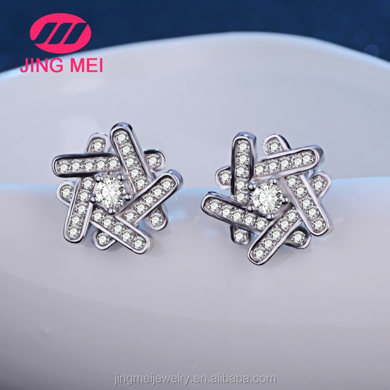 Latest model fashion earrings make with crystal stone