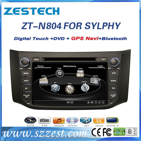 auto parts for nissan sentra gps navigation system with car dvd player radio bluetooth multimeida