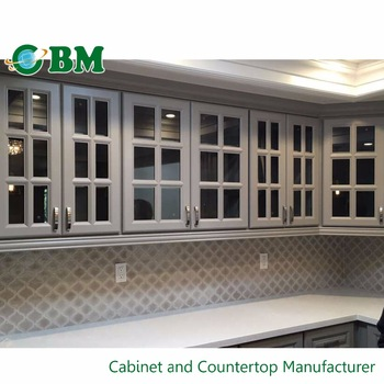 Great China Wall Hanging Kitchen Cabinet With Glass Door Insert Design