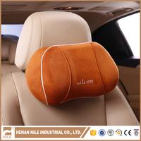 Super-fibre Leather Headrest Auto Suppliers Upholstery Car Cushion Neck