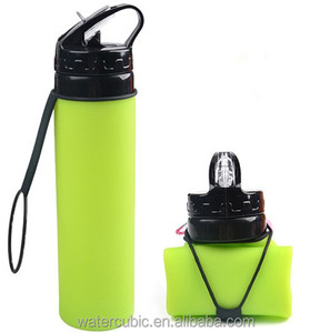 BPA Free Silicone my Water Bottle 600ml Creative Drinking kettle Travel Sports fruit juice Soft Collapsible Folding Bottle
