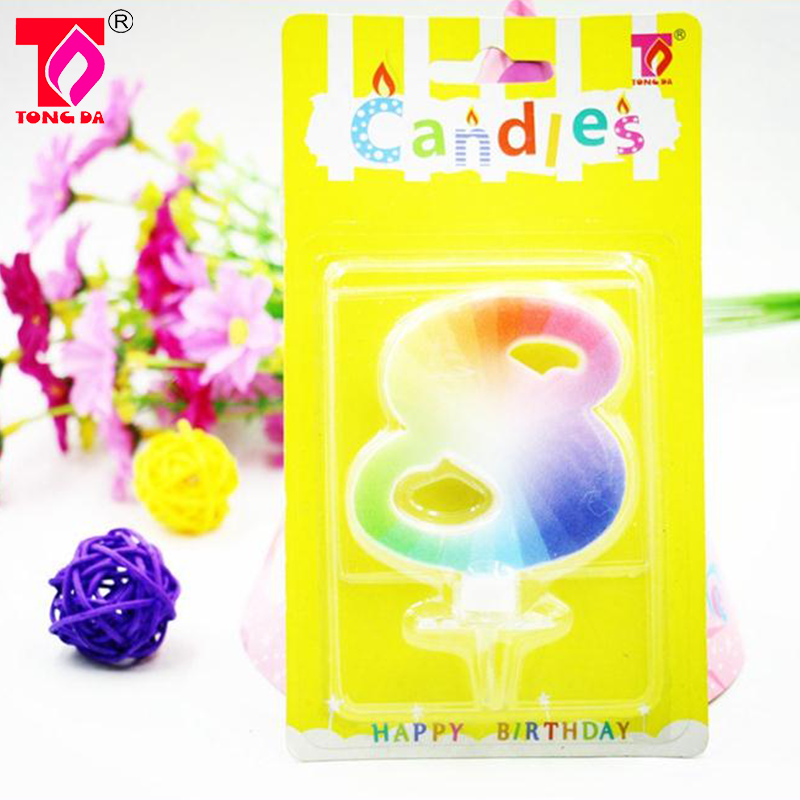 Number 2 Birthday Candle Cake Candles Paraffin Wax