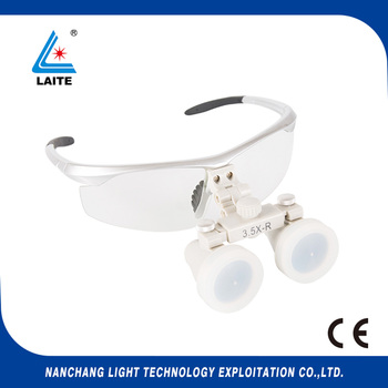 3.5x420mm portable magnification glasses for dentist ent