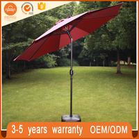 Durable White Patio Beach Waterproof Outdoor Garden Terrace Umbrella