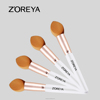 New Arrival Sponge Brush Makeup Clear Handle Rose Golden Makeup Brush Private Label