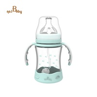 Customizable Heat Sensitive Newborns Temperature Color Changing Infant Toddler Nursing Glass Baby Water Feeding Milk Bottles