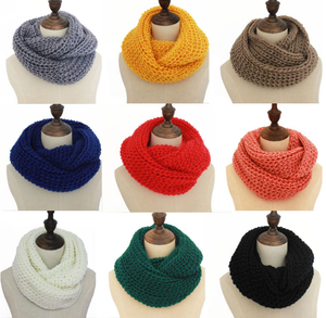warm winter scarf scarves knitted women fashion neck wool cashmere snood