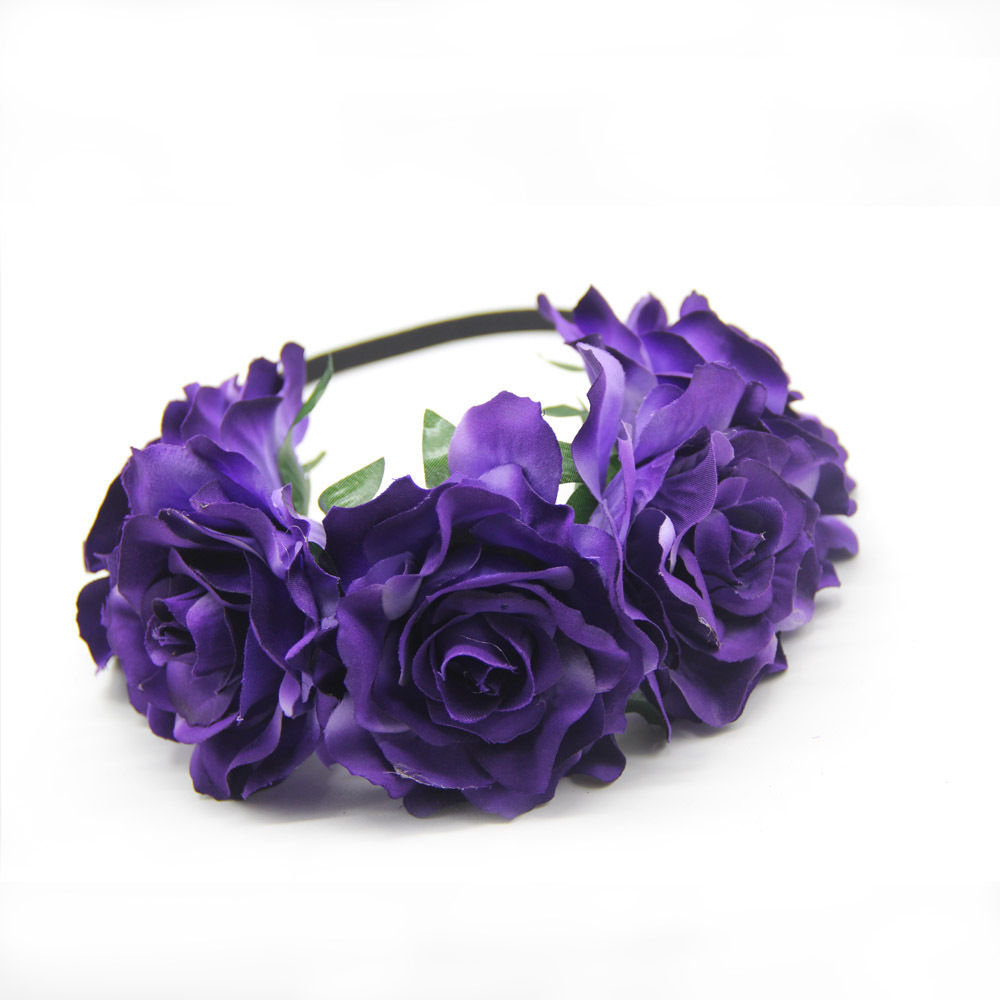 2018 Custom Wedding Girl Flower Crown Floral Headband Headpiece SE345