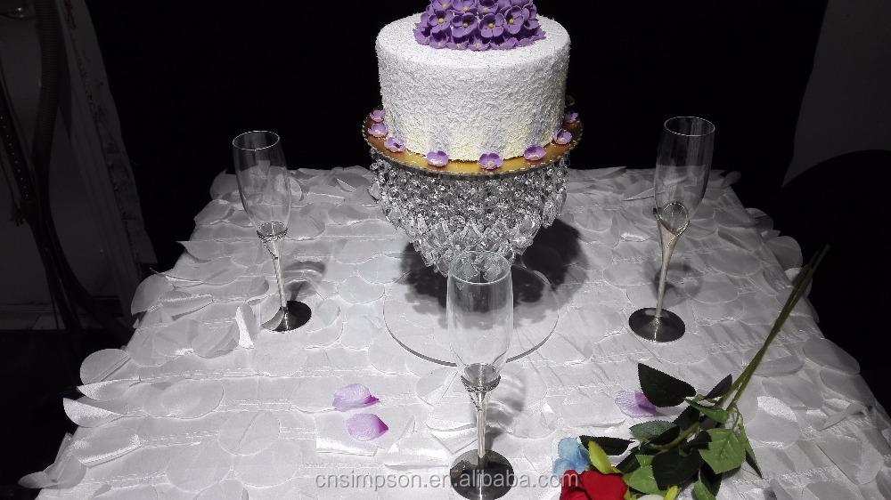 Acrylic Crystal Chandelier Wedding Cake Stand, Acrylic Crystal ...