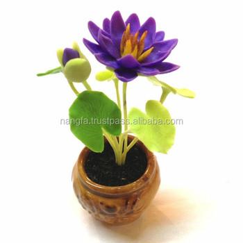 Thai clay lotus flower view thai clay lotus flower pramote product thai clay lotus flower mightylinksfo