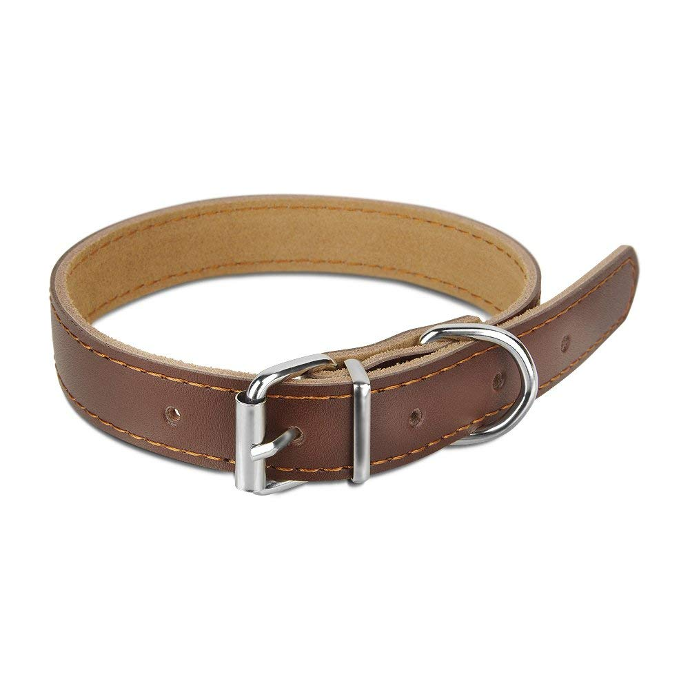 Dogibest Adjustable Dog Collar - 100% Soft Genuine Leather - Perfect Choice for Daily Walking for Small Dog Breeds